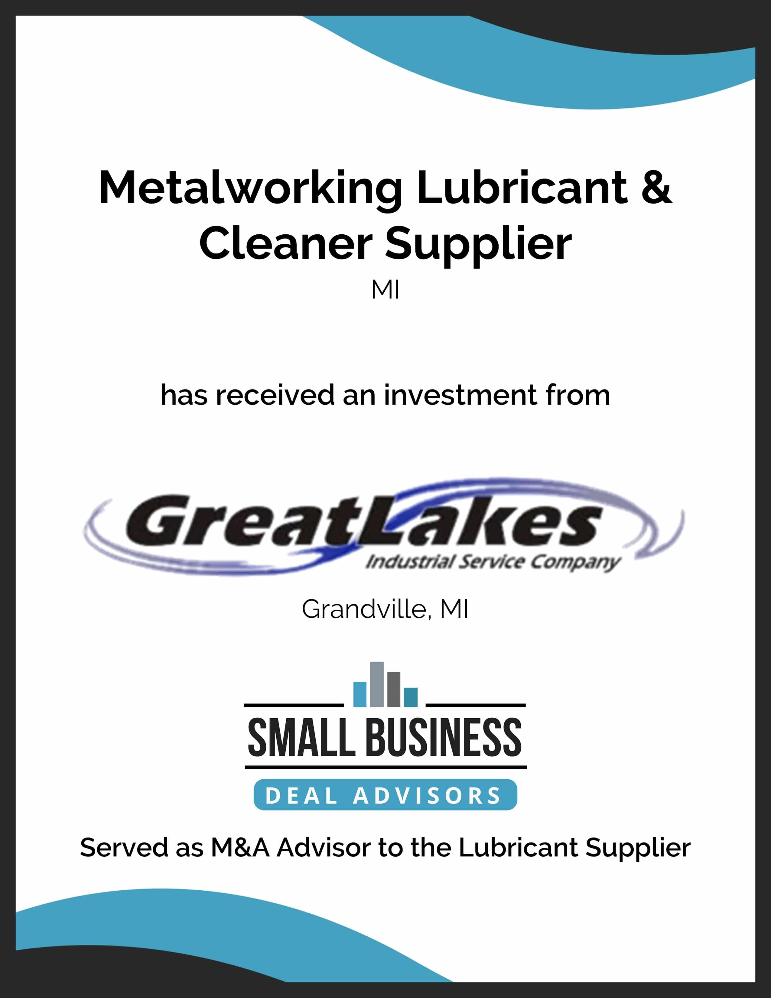 Great Lakes Industrial Services Invests in Metalworking Supplier2